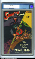 Golden Age (1938-1955):Crime, Shadow Comics Vol. 7, #7 (Street & Smith, 1947) CGC VF+ 8.5 Cream to off-white pages. Overstreet 2002 VF 8.0 value = $240....