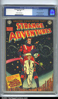 Golden Age (1938-1955):Science Fiction, Strange Adventures #9 (DC, 1951). CGC VF+ 8.5 Off-white to whitepages. Origin and first appearance of Captain Comet. Overst...