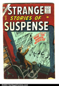 Golden Age (1938-1955):Science Fiction, Strange Stories of Suspense #12 (Atlas, 1956) Condition: GD/VG.Great Atlas science-fiction. Book is complete. Overstreet 20...