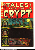 "Golden Age (1938-1955):Horror, Tales From the Crypt #28 (EC, 1952) FN. Back cover has a 1"" tearand a few creases. Overstreet 2002 FN 6.0 value = $123...."