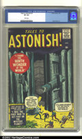 Silver Age (1956-1969):Horror, Tales to Astonish #1 (Atlas, 1959). CGC VF 8.0 White pages. SteveDitko art. Overstreet 2002 VF 8.0 value = $1114....