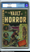 Golden Age (1938-1955):Horror, Vault of Horror #22 (EC, 1951). CGC VG+ 4.5 Cream to off-whitepages. Overstreet 2002 GD 2.0 value = $34; FN 6.0 value = $10...