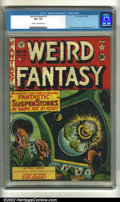 Golden Age (1938-1955):Horror, Weird Fantasy 14 (#2) (EC, 1950). CGC VG+ 4.5 Cream to off-whitepages. Overstreet 2002 GD 2.0 value = $84; FN 6.0 value = $...