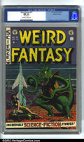 Golden Age (1938-1955):Science Fiction, Weird Fantasy #15 Gaines File pedigree 3/12 (EC, 1952). CGC NM 9.4Off-white to white pages. 4 Siamese pages. Williamson, Ka...