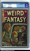 Golden Age (1938-1955):Science Fiction, Weird Fantasy #16 (EC, 1952). CGC FN- 5.5 Cream to off-white pages.Overstreet 2002 FN 6.0 value = $87....