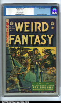 Weird Fantasy #19 (EC, 1953). CGC FN/VF 7.0 Cream to off-white pages. Overstreet 2002 FN 6.0 value = $87; VF 8.0 value =...