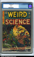 Golden Age (1938-1955):Science Fiction, Weird Science #9 (EC, 1951). CGC FN 6.0 Off-white pages. Overstreet2002 FN 6.0 value = $135....