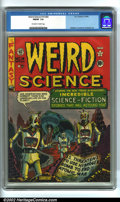 Golden Age (1938-1955):Science Fiction, Weird Science #14 (#3) (EC, 1950). CGC FN/VF 7.0 Off-white to whitepages. Overstreet 2002 FN 6.0 value = $240; VF 8.0 value...
