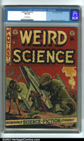 Golden Age (1938-1955):Science Fiction, Weird Science #15 (EC, 1952). CGC FN 6.0 Off-white pages.Overstreet 2002 FN 6.0 value = $99....