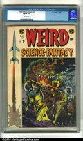 Golden Age (1938-1955):Science Fiction, Weird Science-Fantasy #27 (EC, 1955). CGC FN/VF 7.0 Off-whitepages. Overstreet 2002 VF 8.0 value = $210....