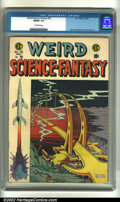 Golden Age (1938-1955):Science Fiction, Weird Science-Fantasy #28 (EC, 1955). FN/VF 7.0 Off-white pages.Overstreet 2002 VF 8.0 value = $217....