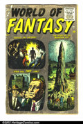 Golden Age (1938-1955):Science Fiction, World Of Fantasy #1 (Atlas, 1956) Condition: GD. Classic Atlasscience-fiction title. Some tape at spine. Great page quality...