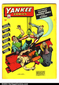 """Yankee Comics #3 (Chesler, 1942). VG+. 1"""" spine split and small tear at top, otherwise VF"""