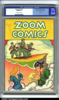 Golden Age (1938-1955):War, Zoom Comics #nn Mile High pedigree (Carlton Publishing, 1945) CGCVF/NM 9.0 Off-white to white pages. Only issue. Overstreet...