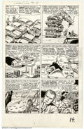 Original Comic Art:Panel Pages, Jack Kirby and Dick Ayers - Original Art for Fantastic Four #14,Page 12 (Marvel, 1963). The entire team appears on this ter...