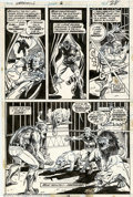 Original Comic Art:Panel Pages, Mike Ploog and Frank Bolle - Original Art for Werewolf By Night #6, Page 28 (Marvel, 1972). Why is the bad guy wearing a Fla...