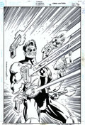 Original Comic Art:Covers, Dan Jurgens and Terry Austin - Original Cover Art for Green Lantern#115 (DC, 1999). The Kyle Rainer GL employs a host of we...