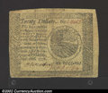 Colonial Notes:Continental Congress Issues, September 26, 1778, $20, Continental Congress Issue, CC-82, VF+...