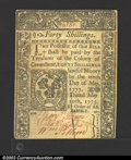 Colonial Notes:Connecticut, May 10, 1775, 40s, Connecticut, CT-182, CU. A decent example ...