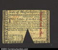 Colonial Notes:Massachusetts, May 5, 1780, $20, Massachusetts, MA-285, XF, COC. A cut-out ...