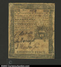Colonial Notes:Pennsylvania, April 3, 1772, 18d, Pennsylvania, PA-155, Fine+. A couple of ...