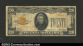 Small Size:Gold Certificates, 1928 $20 Gold Certificate, Fr-2402, VG-Fine. ...
