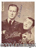 Autographs, Abbott and Costello Signed Vintage Program