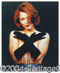 Autographs, Gillian Anderson Signed 8 x 10 Photograph