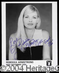 Autographs, Rebekka Armstrong Signed 8 x 10 Photograph