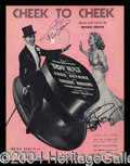 Autographs, Fred Astaire & Ginger Rogers Signed Sheet Music