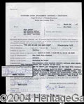 Autographs, Mary Astor Signed Document