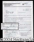 Autographs, Gene Autry Signed Document