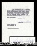 Autographs, Lucille Ball Signed Document