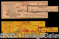 Autographs, Lucy and Desi Signed Check Set