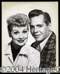 Autographs, Lucille Ball & Desi Arnaz Signed Photo