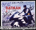 Autographs, Batman Original TV Cast Signed Photo