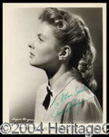 Autographs, Ingrid Bergman Signed Vintage Photo