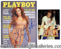 Autographs, Angelica Bridges Signed November 2001 Playboy