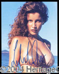 Autographs, Laetitia Casta Signed Bikini Photo