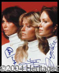 Autographs, Charlie's Angels Signed Group Photo