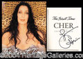 Autographs, Cher Signed First Edition Book