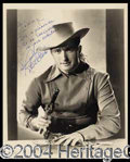 Autographs, Robert Clarke Signed Vintage Photo