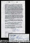 Autographs, Gary Cooper Signed Document