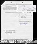 Autographs, Russel Crowe Signed Document