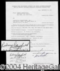 Autographs, Rodney Dangerfield Signed Document