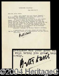 Autographs, Bette Davis Letter Signed