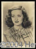 Autographs, Bette Davis Signed Vintage Photograph