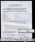 Autographs, Marlene Dietrich Signed Document