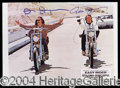 Autographs, Easy Rider Signed Photo Hopper/Fonda
