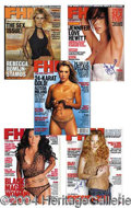 Autographs, FHM Signed Magazine Lot (5)